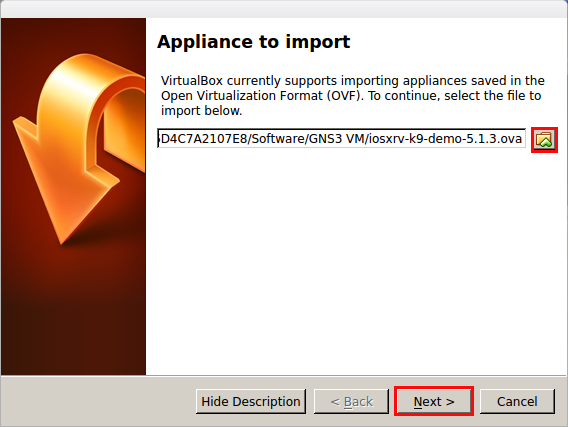 Import Virtual Appliance_040