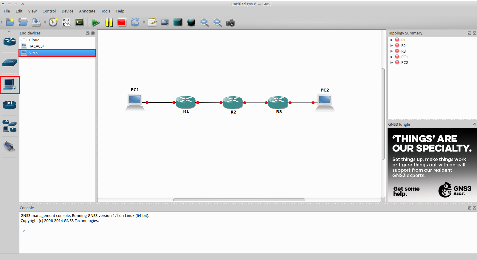 Adding VPCS to GNS3 v1 1 | The Routing Loop
